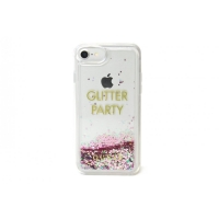 Zadní kryt Guess Liquid Glitter Party Purple GUHCP7LGLUQPU pro Apple iPhone 7/6/6S Plus