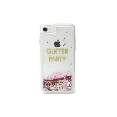 Zadní kryt Guess Liquid Glitter Party Purple GUHCP7GLUQPU pro Apple iPhone 7/6/6S