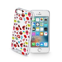 Obal Cellularline STYLE pro Apple iPhone 5/5S/SE, motiv POP