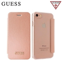 Pouzdro Guess IriDescent Book (GUFLBKP7IGLTRG) pro iPhone 7/6/6S - Rose Gold