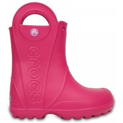 Dětské holínky (gumáky) Crocs Handle It Rain Boot Kids - Candy Pink ... 7b64b4be8d