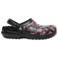 Crocs Classic Lined Graphic Flowers Clog
