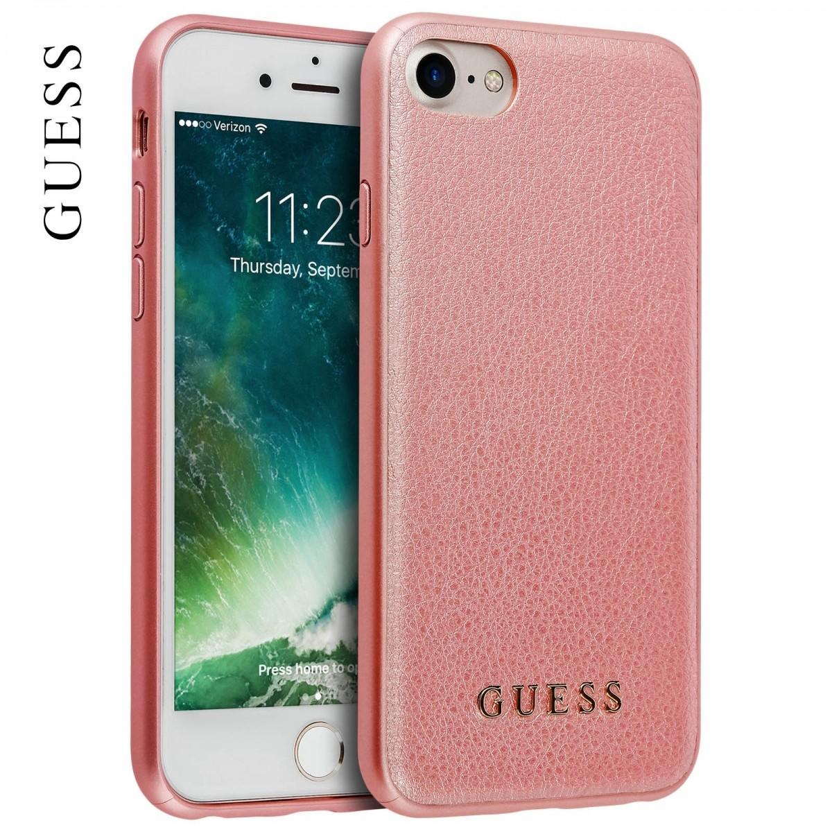 Zadní kryt Guess IriDescent TPU GUHCP7IGLRG pro iPhone 7 8 - růžovo-zlatý cb4327de495
