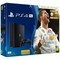 PS4 Pro - Playstation 4 Pro 1TB + FIFA18 Ronaldo edition + PS Plus 14 dní