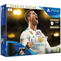 PS4 - Playstation 4 1TB black + FIFA18 Ronaldo edition + PS Plus 14 dní