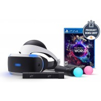 SONY PS4 VR headset + MOVE Twin Pack + VR Worlds