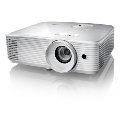 Optoma projektor HD27e white (DLP, FULL 3D, 1080p, 3 400 ANSI, 25 000:1, HDMI and MHL support and built-in 10W speaker)