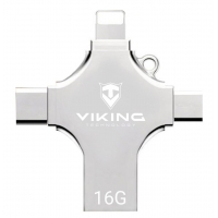 Viking USB Flash disk 16GB s koncovkou APPLE Lightning / Micro USB / USB / USB-C