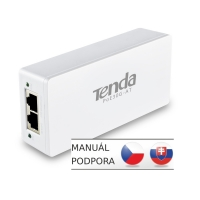 Tenda POE30G-AT Gigabit Power Injector AF/AT 30W, 802.3af, 802.3at, 2x GLAN 10/100/1000 Mb/s