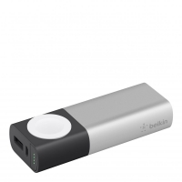Belkin Power Pack 6700, Power bank pro Apple Watch + 1xUSB pro iPhone, stříbrná
