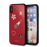 Zadní kryt Guess Iconic TPU Case (GUHCPXACLSRE) pro iPhone X/XS
