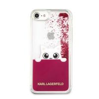 Zadní kryt na iPhone 7 8 Karl Lagerfeld Peek and Boo TPU Glitter - růžová 6be9fd29382