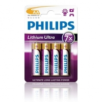 Lithiové baterie Philips Lithium Ultra AA 1.5V, 4 kusy
