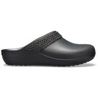 Crocs Sloane Diamante Clog - Black, W8 (38-39)