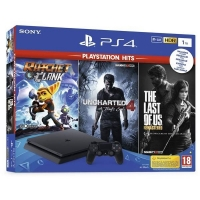 PS4 - Playstation 4 1TB - E Chasiss + TLOU+U4+R&C