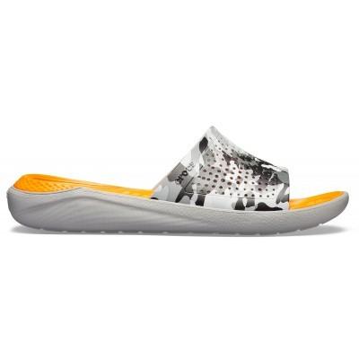 Pánské a dámské nazouváky (pantofle) v armádní kamufláži Crocs LiteRide Graphic Slide Camo