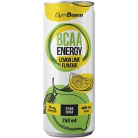 Aminokyseliny GymBeam BCAA Energy drink, 250 ml - citron / limetka