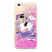 Disney Minnie 035 Glitter Back Cover Pink pro iPhone 5/5S/SE