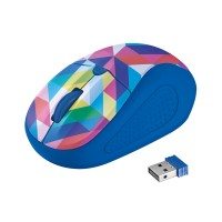 myš TRUST Primo Wireless Mouse - blue geometry