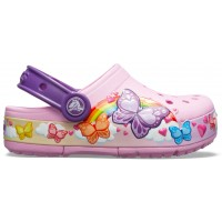 Crocs Fun Lab Butterfly Band Lights Clog