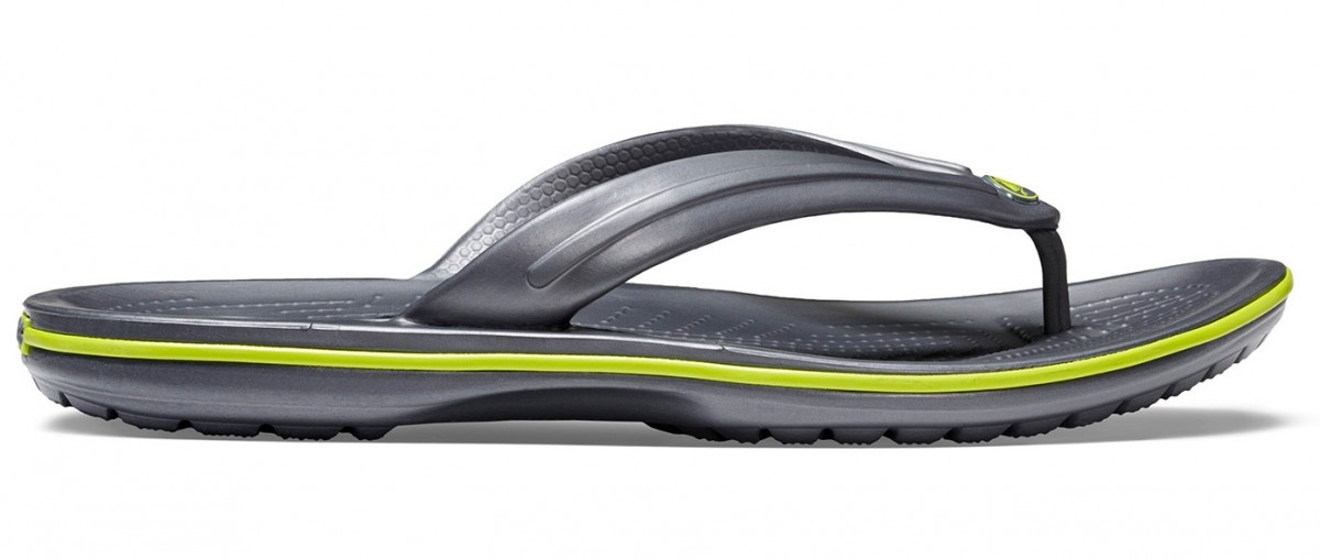 06451075e5e7 Dámské a pánksé žabky Crocs Crocband Flip - Graphite Volt Green
