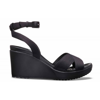 Dámské sandály (boty na klínku) Crocs Leigh II Cross-Strap Ankle Wedge