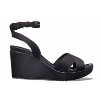 Crocs Leigh II Cross-Strap Ankle Wedge