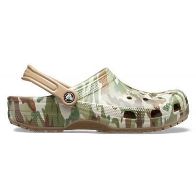 Pánské nazouváky (pantofle) v armádní kamufláži Crocs Classic Graphic II Clog