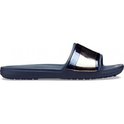 Dámské nazouváky (pantofle) Přejít na dámské nazouváky (pantofle) Crocs Sloane Metal Block Slide