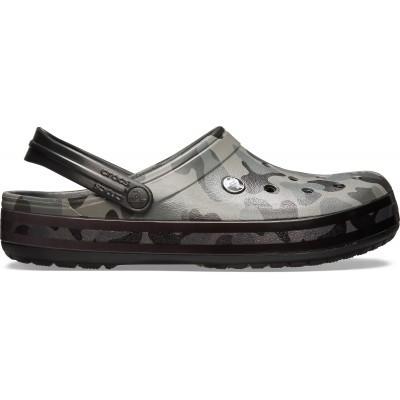 Přejít na dámské a pánské nazouváky (pantofle) v armádní kamufláži Crocs Crocband Seasonal Graphic Clog Army