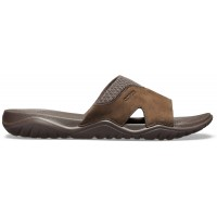 Crocs Swiftwater Leather Slide