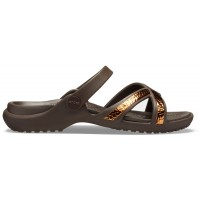 Crocs Meleen Metallic Texture Cross-Band Sandal