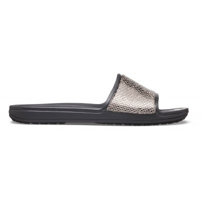 Dámské nazouváky (pantofle) Crocs Sloane Metal Texture Slide