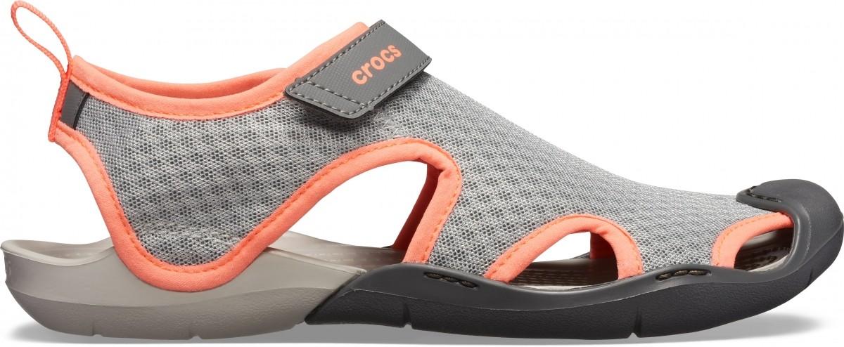25e462cd9639 Dámské sandály Crocs Swiftwater Mesh Sandal Women - Light Grey Pearl ...