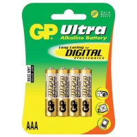 Alkalické baterie GP Ultra Plus AAA 1.5V, 4ks