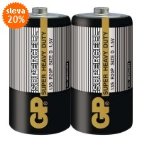 Baterie GP Supercell D 1.5 V, 2 kusy