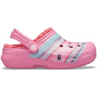 Crocs Classic Printed Lined Clog Kids