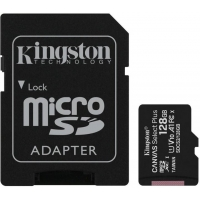 128GB microSDXC Kingston Canvas Select Plus  A1 CL10 100MB/s + adapter