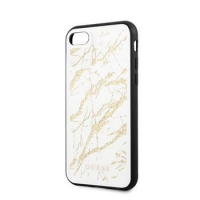 GUHCI8MGGWH Guess Glitter Marble Kryt pro iPhone 8/SE2020 White Gold