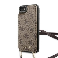 GUHCI8CB4GB Guess 4G Crossbody Cardslot Kryt pro iPhone 7/8/SE2020 Brown