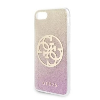 GUHCI8PCUGLPGG Guess Glitter 4G Circle Kryt pro iPhone 8/SE2020 Rose Gold
