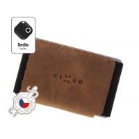 Kožená peněženka FIXED Smile Tiny Wallet se smart trackerem FIXED Smile Motion