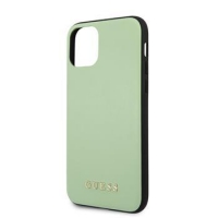 GUHCN65PUMGR Guess PU Leather Zadní Kryt pro iPhone 11 Pro Max Green