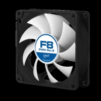 ARCTIC F8 PWM Rev.2 80mm case fan with PWM control