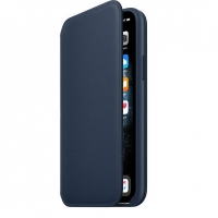 iPhone 11 Pro Leather Folio - Deep Sea Blue