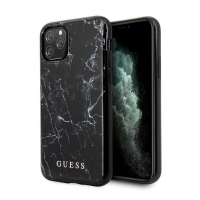 GUHCN65PCUMABK Guess Marble Design Zadní Kryt pro iPhone 11 Pro Max Black