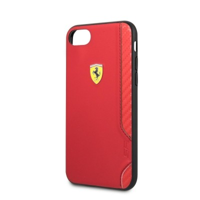 FESITHCI8RE Ferrari On Track Rubber Soft Kryt pro iPhone 7/8/SE2020 Red