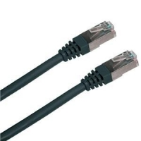 Patch cord FTP cat5e 0,5M černý