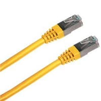 Patch cord FTP cat5e 1M žlutý