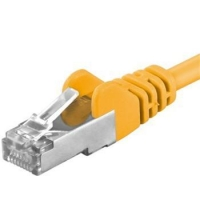 Premiumcord Patch kabel CAT6a S-FTP, RJ45-RJ45, AWG 26/7 0,25m žlutá